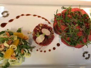 Vorspeisenvariation im italienischen Restaurant Tesoro in Hannover