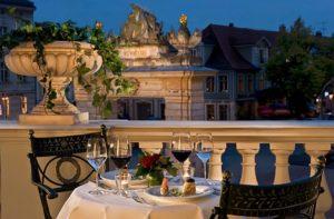 Die Terrasse des Hotel Am Jägertor Potsdam