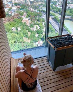 Die Sauna des Radisson Blu Hotel in Frankfurt
