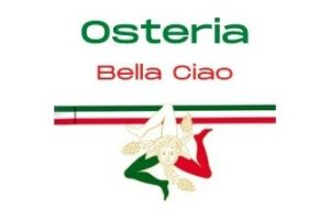 Schwarz mit Besteck Symbol Restaurant Logo 1 300x201